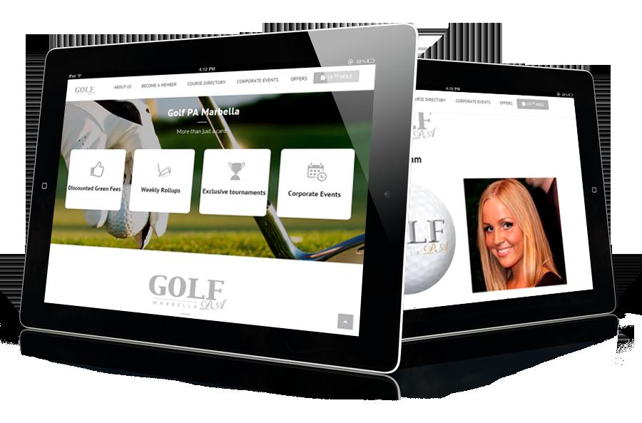 consultoría web para empresas de golf