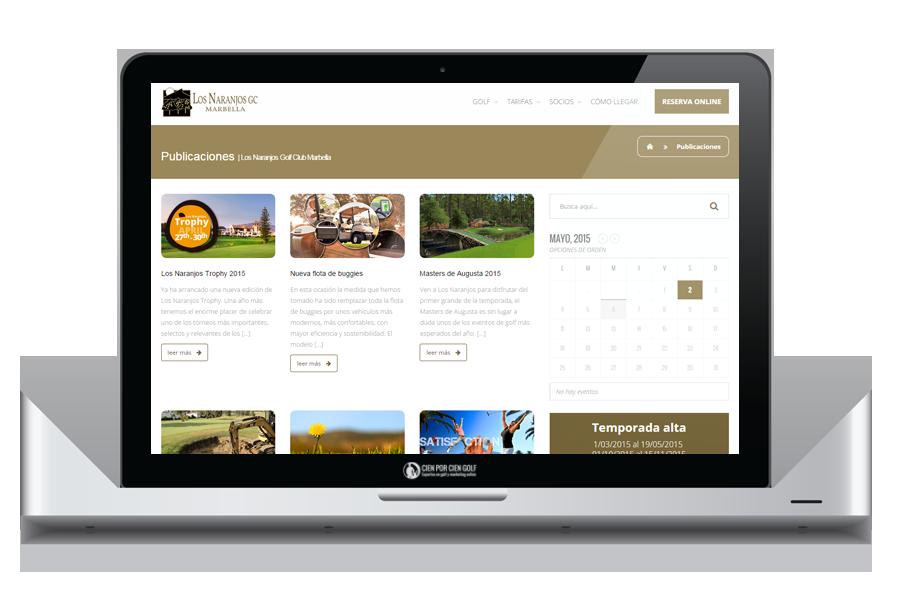 Especialistas en diseño y programación de páginas web campos de golf