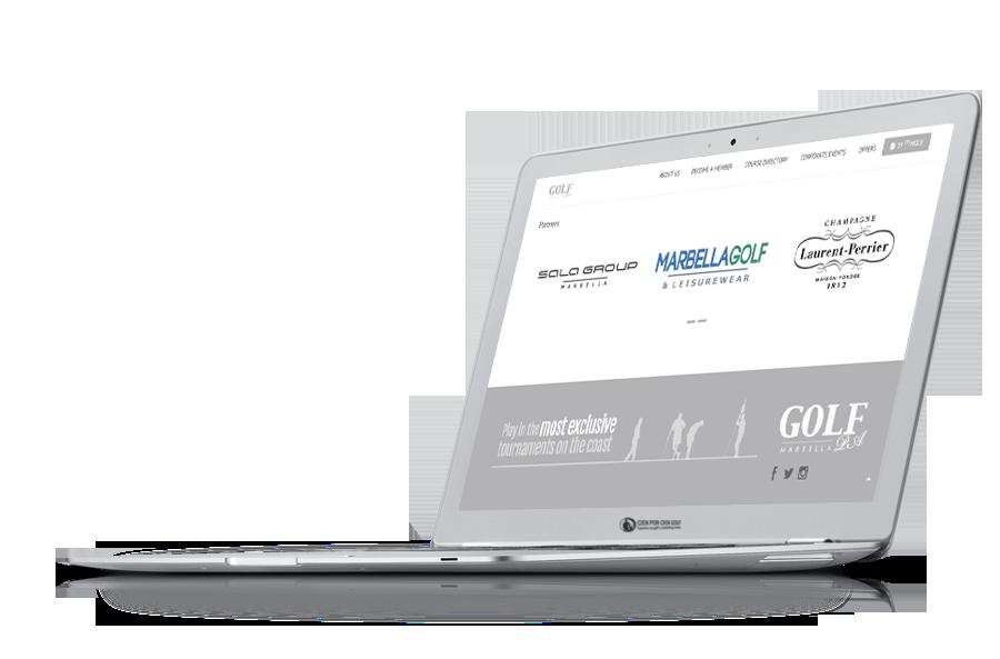 desarrollo web para empresas de golf