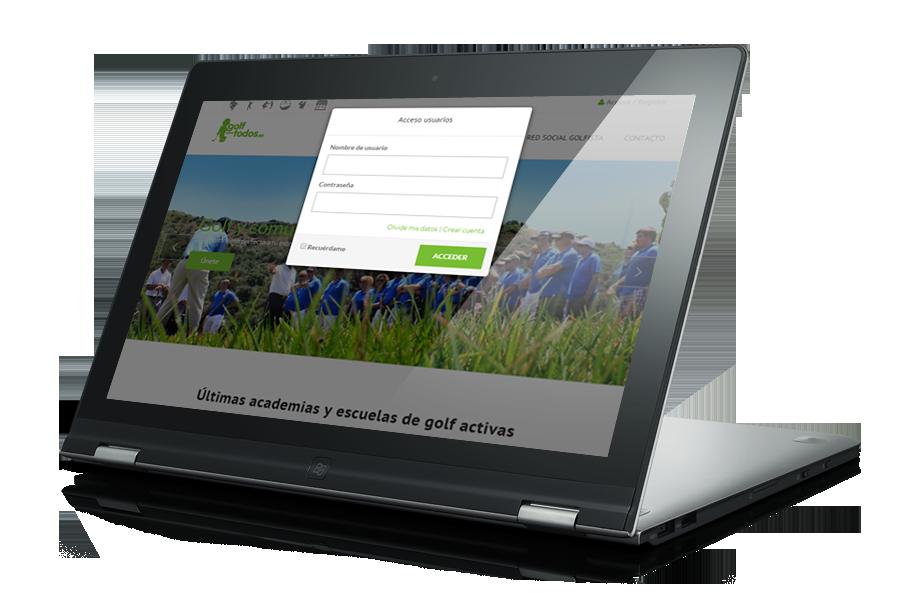 diseño web paraempresas de golf